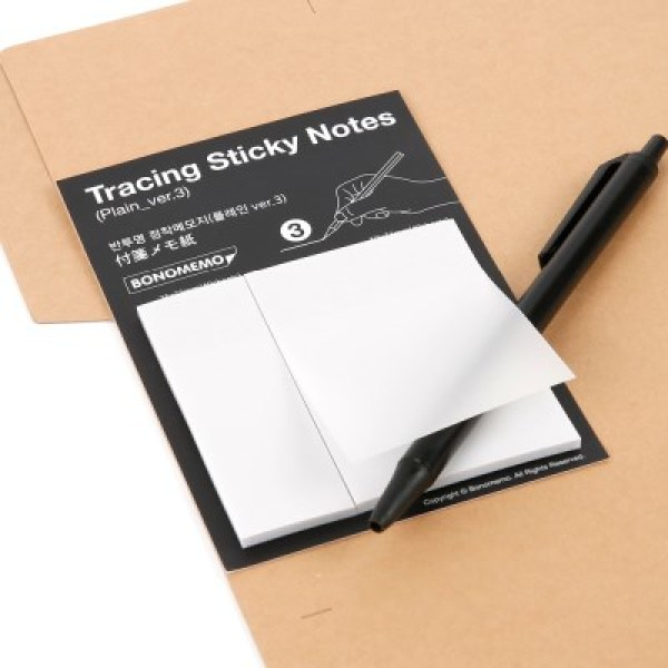 Tracing Sticky Notes-Plain ver.3(반투명 점착메모지-플레인 ver.3) 상품이미지