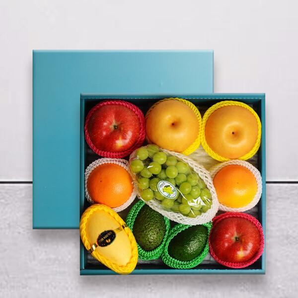 (현대Hmall) 누리원 명작선물세트 사과2+배2+오렌지2+아보카도2+망고1+샤인머스켓1송이 상품이미지