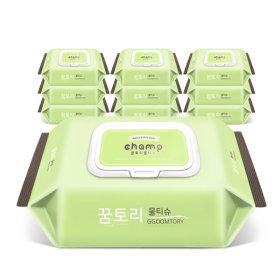 아기물티슈 뉴가득찬챔프 100매 캡형  10팩+휴대용4팩