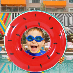 물놀이 튜브/어린이 튜브/원형튜브-수박 60cm