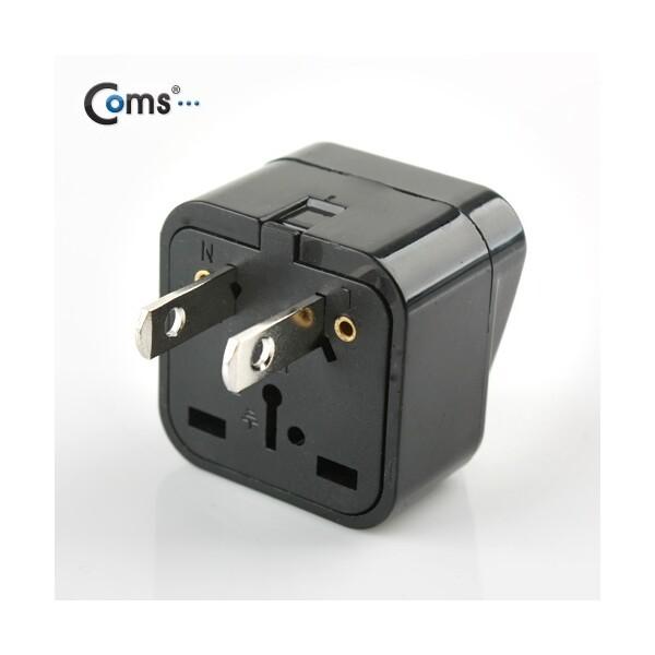 BE044  Coms 전원(AC) 변환용(WD-6) Black 미국 일본 상품이미지