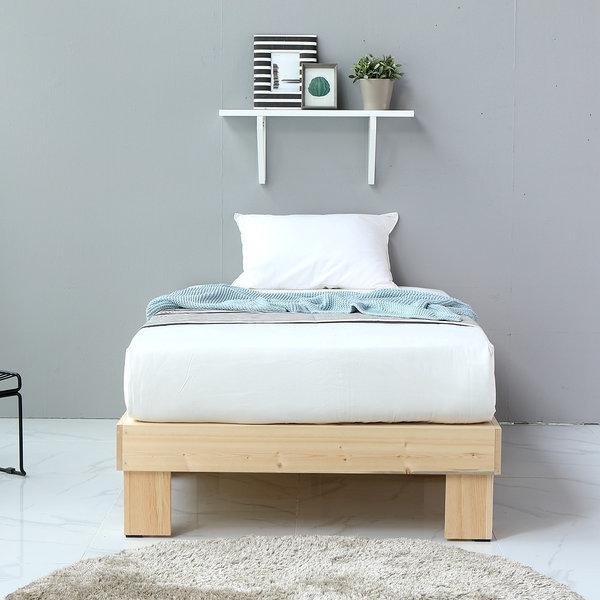 해피아이 디폼 원목 평상형 침대/슈퍼싱글/퀸/분리형 상품이미지