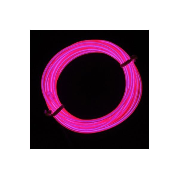 EL 와이어줄(2M)+인버터  핑크 상품이미지