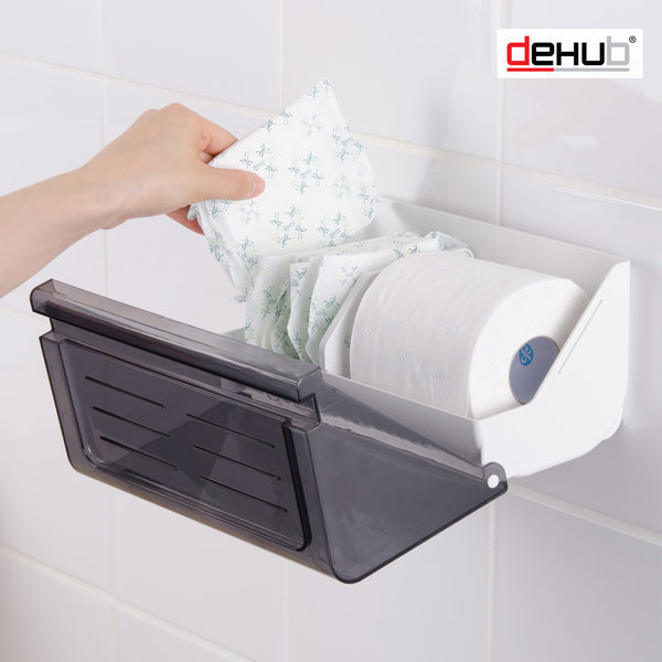 밀착패드 다용도 욕실 휴지걸이 선반휴지걸이 접착식 상품이미지