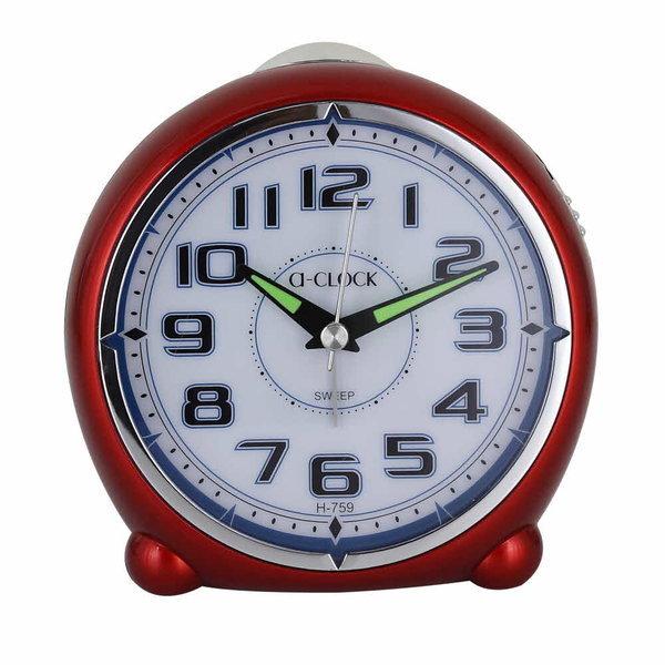 탁상시계 알람시계  깔끔한탁상시계 빨간시계 H759 상품이미지