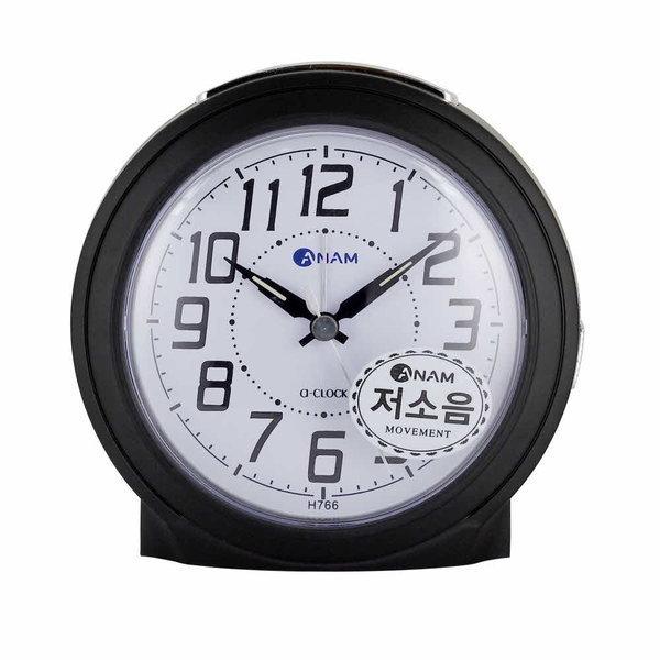 탁상시계 깔끔한탁상시계 심플한알람시계 H766 블랙 상품이미지