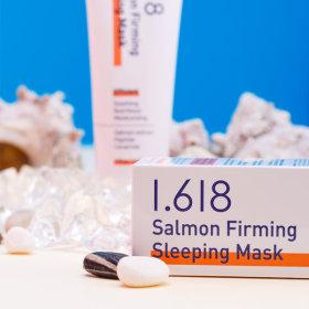 샐몬 퍼밍 슬리핑팩 100g 수면팩/미백/주름개선 1+1