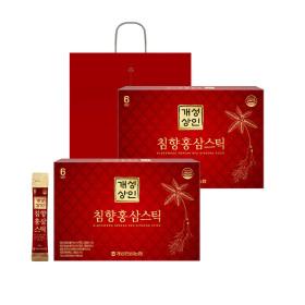 개성상인 침향홍삼스틱 10ml 30포 1+1 /쇼핑백 증정