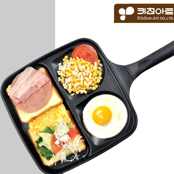키친아트 하우스쿡 3구 멀티 후라이팬/에그팬/계란팬 상품이미지