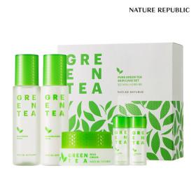 Nature Republic Pure green tea water skin care set + paper bag