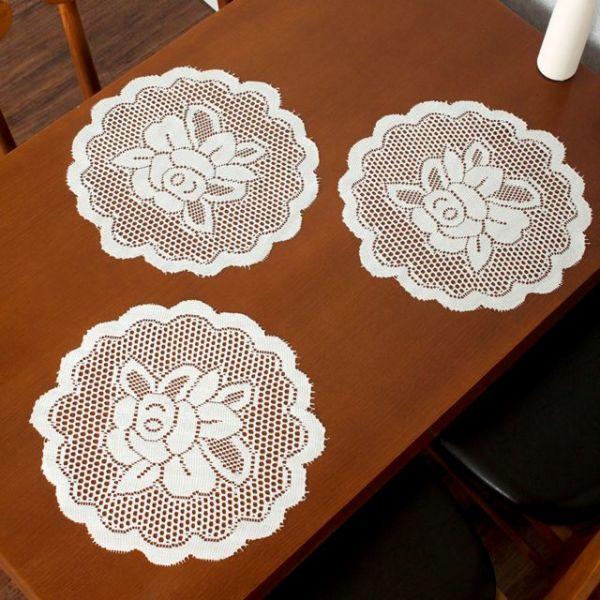 프렌치 레이스 테이블 러너 5p세트(꽃송이) 상품이미지