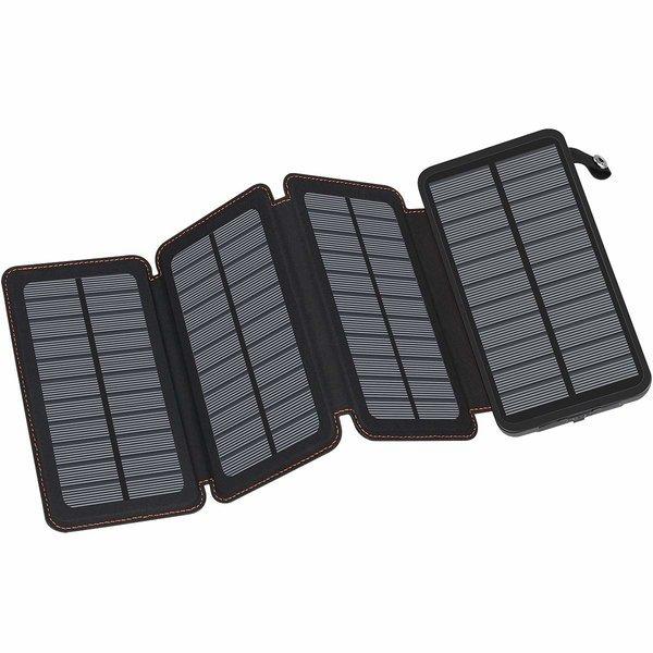 FEELLE 휴대용 태양광 충전기 방수 외장 배터리 Black 상품이미지