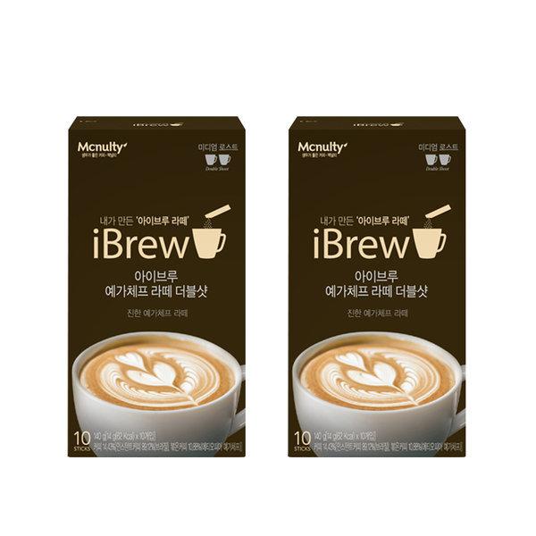 아이브루 예가체프 더블샷 라떼 10Tx2개 인스턴트 커피 상품이미지
