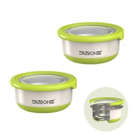 더블 푸드박스 220ml (1+1) / 이중구조 스텐밀폐용기