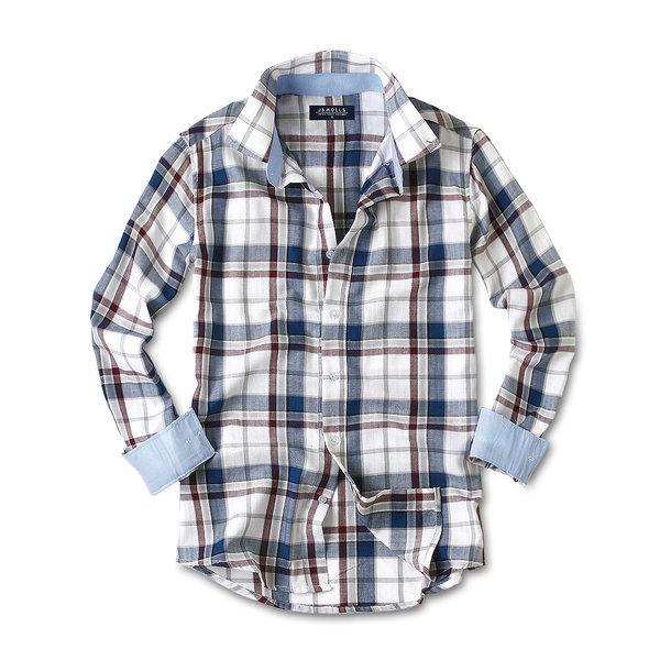 캐주얼 긴팔 체크 남성 남자 셔츠 남방 와이셔츠 021 상품이미지