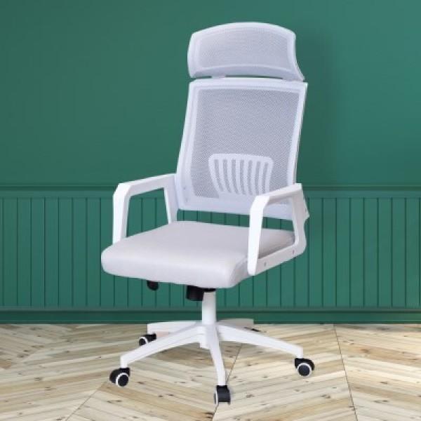 에디슨 905  그레이 화이트 메쉬 학생의자 책상의자 컴퓨터의자 상품이미지