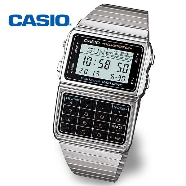 정품  CASIO 카시오 DBC-611-1D 데이터뱅크 계산기 메탈시계 상품이미지