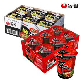 튀김우동컵6개+신라면컵6개(총12개)