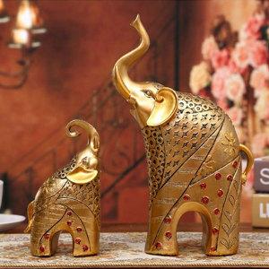 돈을 부르는 황금 코끼리상 인테리어소품 장식품 동상