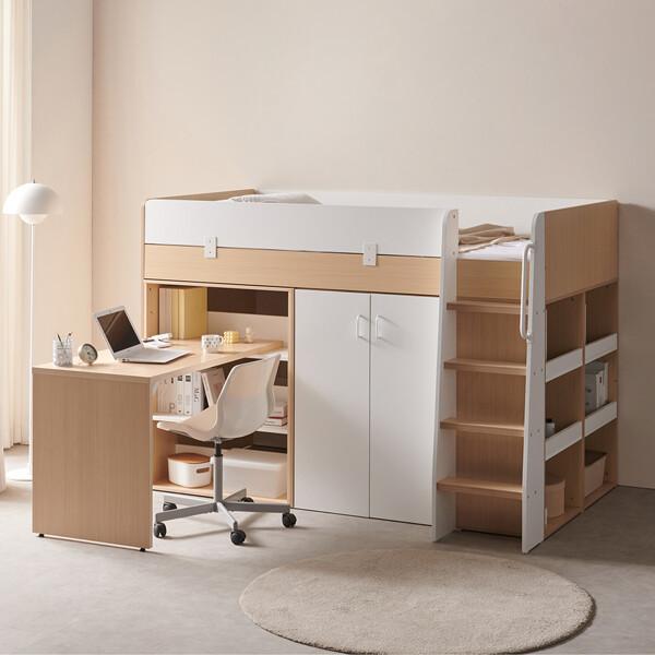 (현대Hmall)스토리쥬4 수납 벙커침대 옷장+책상형 IKST405 상품이미지