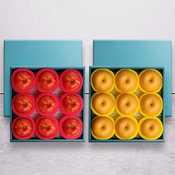 (현대Hmall) 누리원 명작선물세트 사과 9과+배 9과 8.2kg내외/총2박스 상품이미지