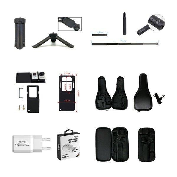 와이즈핏 S9P 3축 짐벌 악세서리 액션캠 마운트 상품이미지