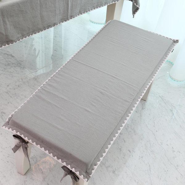 멜로스티치 벤치의자방석 가로240 세로65이하 100%맞춤 상품이미지