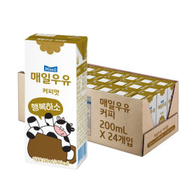 매일 커피맛 멸균우유 200ml 24팩/우유