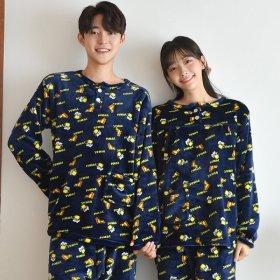신상 트렌디한 커플 잠옷 홈웨어 파자마 원피스 세트