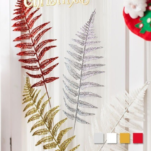 펄가지큰잎 43cm 트리 크리스마스 장식 소품 TROMCG 상품이미지