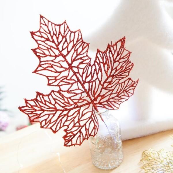 포인가지큰잎 36cm 트리 크리스마스 장식 소품 TROMCG 상품이미지
