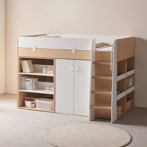 (현대Hmall)스토리쥬4 수납 벙커침대 옷장+책장형 IKST404 상품이미지
