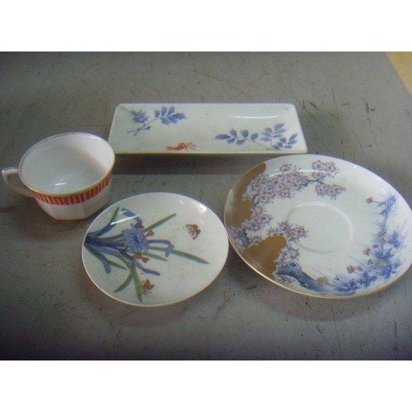 (이빵)일본/오래된도자기접시포함4개 (이빠짐/수집용) 상품이미지