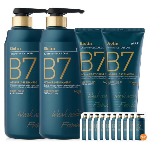 B7 약산성 탈모 샴푸 2+1 / 1000ml+1000ml+250ml 상품이미지