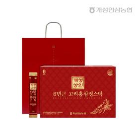 개성상인 6년근 고려홍삼정스틱 10ml 30포 /쇼핑백