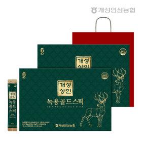 개성상인 녹용골드스틱 10ml 30포 1+1 /쇼핑백 증정
