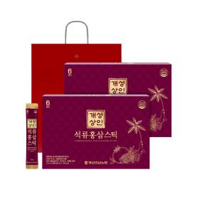 개성상인 석류홍삼스틱 10ml 30포 1+1 /쇼핑백 증정