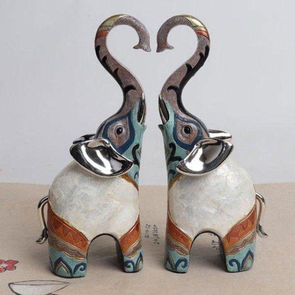 자개 하트 코끼리 소품인형(2P) 상품이미지