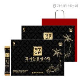 개성상인 흑마늘홍삼스틱 10ml 30포 1+1 /쇼핑백 증정
