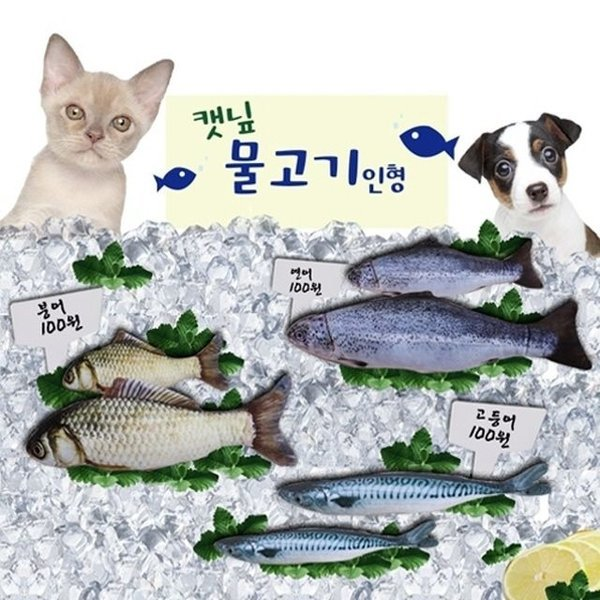 고양이장난감 컴패니언 캣닙 물고기 봉제 인형 M 상품이미지