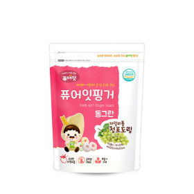 PURE-EAT Finger Brownrice Xylitol Green Grape Ring
