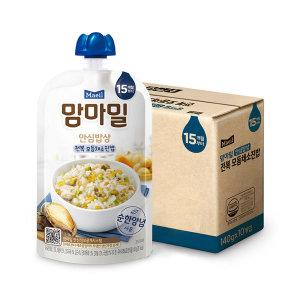[맘마밀]맘마밀 안심밥상 전복 모듬채소 140g 10팩/이유식