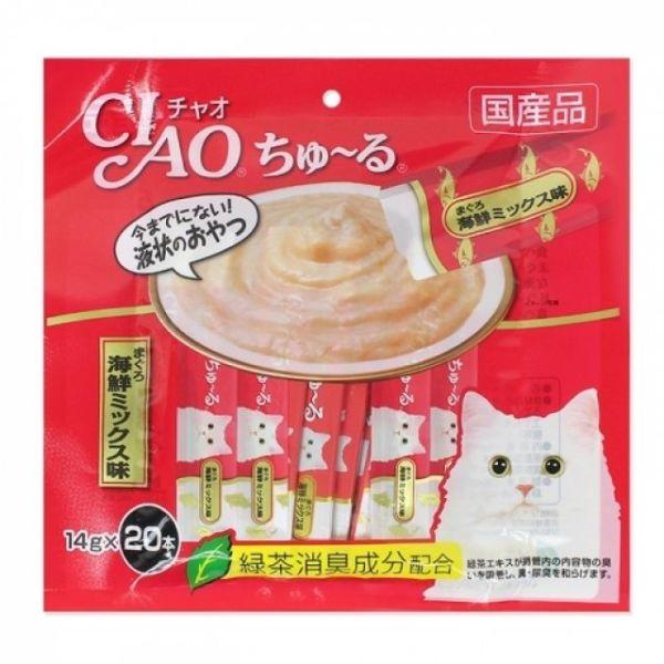 고양이간식 챠오 츄루 SC-127(참치+해산물믹스)14g 상품이미지