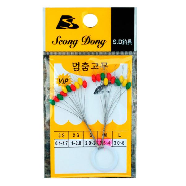성동 컬러 O형 찌멈춤고무/찌고무/민물찌고무/ 월드피싱 상품이미지