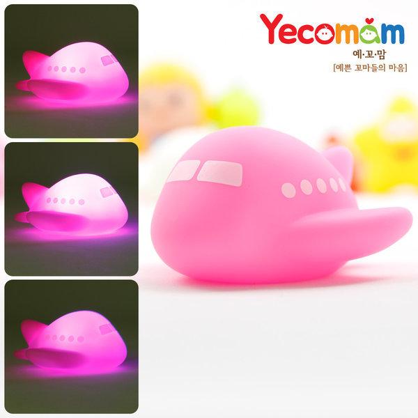 LED 아기물놀이/목욕장난감/돌장난감/ 비행기(핑크) 상품이미지