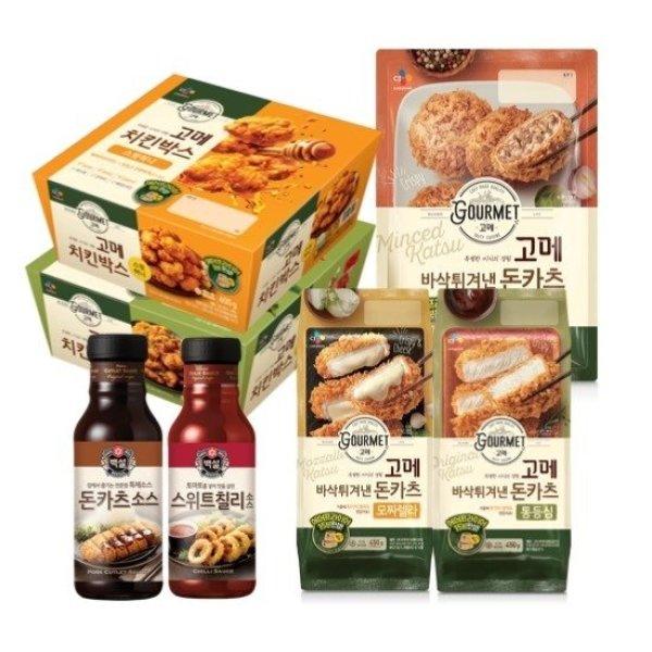 CJ제일제당 고메 돈카츠 3봉+ 치킨 박스 2팩 + 소스 상품이미지