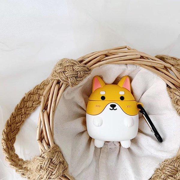 에어팟1/2 차이팟 강아지 캐릭터케이스 258노란시바견 상품이미지