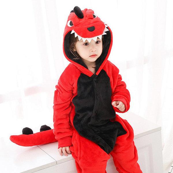 빨간공룡 극세사 캐릭터동물잠옷 아동잠옷 수면잠옷 상품이미지