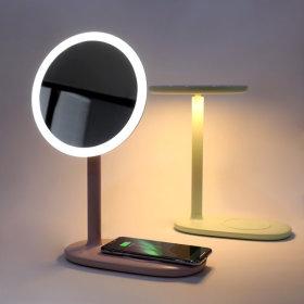 EMOI 무선충전 무드등 메이크업 LED 거울 그린