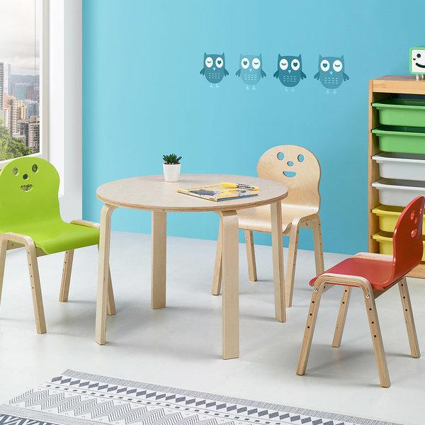 책상세트/ 토리 원목 초등 원형 내추럴책상 신형의자 상품이미지